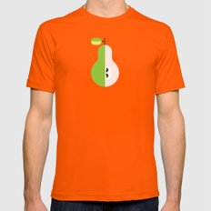 Fruit: Pear LARGE Orange Mens Fitted Tee