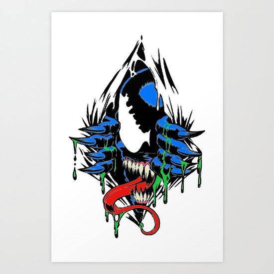 Ripped Venom  Art Print