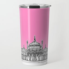 Brighton Royal Pavilion Facade ( pink version ) Travel Mug