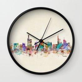 Frankfurt city Germany Wall Clock