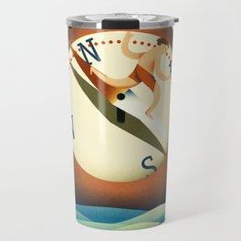compass surfing Travel Mug