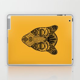 Black and Gold Jaguars Head Laptop & iPad Skin