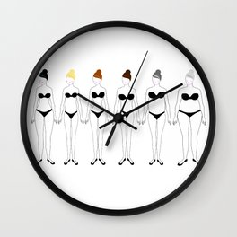 All Shapes and Sizes Wall Clock