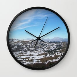 When the snow is melting Wall Clock