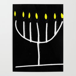 menorah,Hanukkah,jewish,jew,judaism,Festival ofLights,Dedication,jerusalem,lampstand,Temple Poster