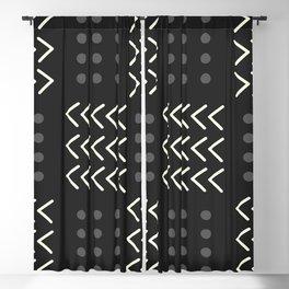 Black Pattern Blackout Curtain