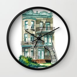 Montreal building Wall Clock
