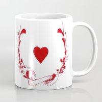 poker Mugs featuring POKER HEART  by Noly Riv Mir