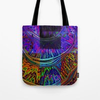 totem Tote Bags featuring Totem by Amanda Moore