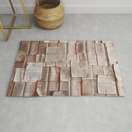 Open Books Library Bookworm Reading Rug