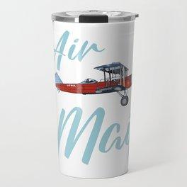 Biplane air mail plane Travel Mug