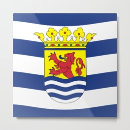 Flag of Zeeland Metal Print