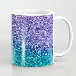 Lavender Purple & Teal Glitter Coffee Mug