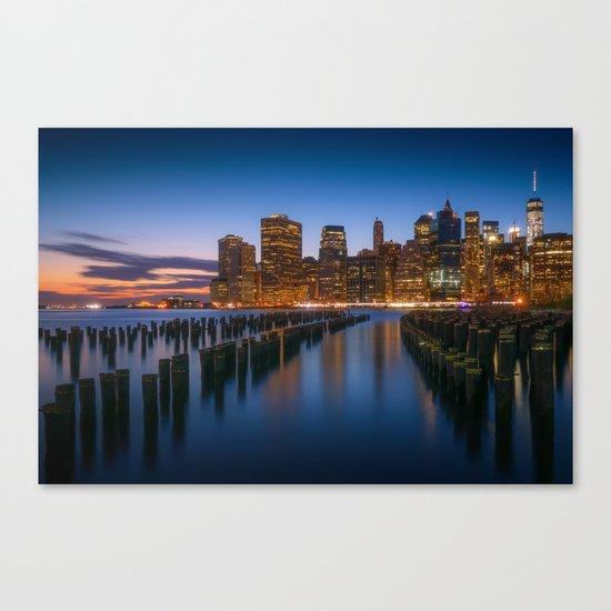 New York Night Lights Canvas Print
