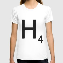 Letter H - Custom Scrabble Letter Tile Art - Scrabble H T-shirt