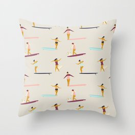 Dancers of the sea Throw Pillow