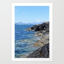 Hebrides Cliffs Art Print