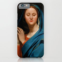 "Jean-Auguste-Dominique Ingres ""The Virgin of the Blue Veil"" iPhone Case"