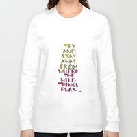 wild things Long Sleeve T-shirts featuring wild things - san cisco by chloe tala