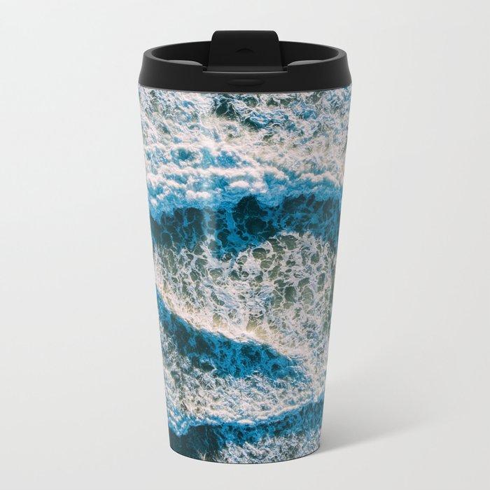 Crashing Waves Metal Travel Mug