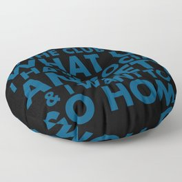 """Request-""""What Up"""" Floor Pillow"""