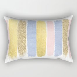 Pantone gold glitter modern minimal brushstrokes abstract art trendy palette girly pastel gifts  Rectangular Pillow