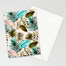 Painting watercolor leaves Stationery Cards
