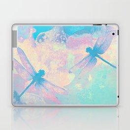 Blue Painting Dragonflies Laptop & iPad Skin