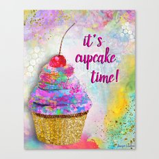 It's Cupcake Time! Canvas Print