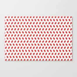 rhombus bomb in poppy red Canvas Print