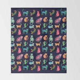 Kitty Cats Throw Blanket
