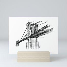 Brooklyn Bridge - NYC Mini Art Print