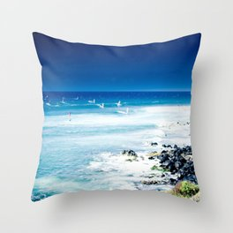 Hookipa Blue Sensation Throw Pillow