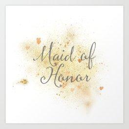 Shining Maid of Honor Art Print