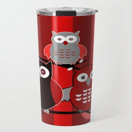 Red Owls Travel Mug