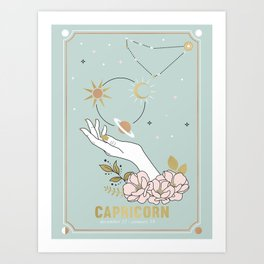 Capricorn Zodiac Series Art Print