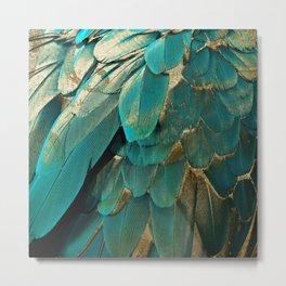 Feather Glitter Metal Print