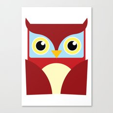 The Red Owl. Canvas Print