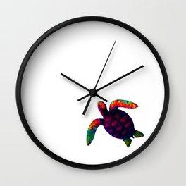 Turtle Magenta jGibney The MUSEUM Society6 Wall Clock