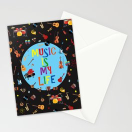 Music is my life Stationery Cards