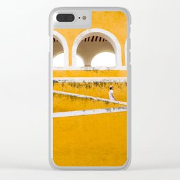 Colonial Mexico, Izamal in Yellow #buyart #society6 #decor Clear iPhone Case