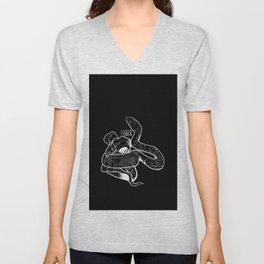 Snake and bird, true love. Unisex V-Neck