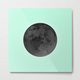 BLACK MOON + TEAL SKY Metal Print
