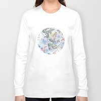 girl power Long Sleeve T-shirts featuring Girl power by Dreamy Me