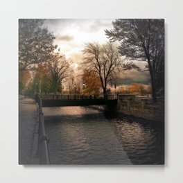 Lights of Lachine Metal Print