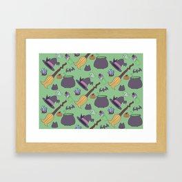 Wicked Fun Green Framed Art Print