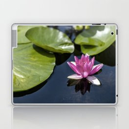 Pink Water lily at the pond Laptop & iPad Skin
