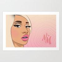 minaj Art Prints featuring 081613—Minaj by danielleBABYLON