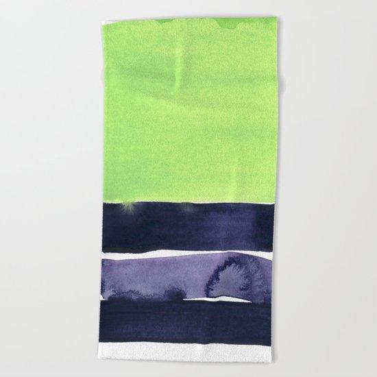 green & violet Beach Towel