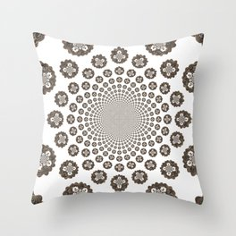 Fractal Kaleidoscope One Throw Pillow